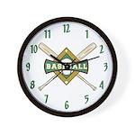 Baseball Room Decor Team Wall Clock