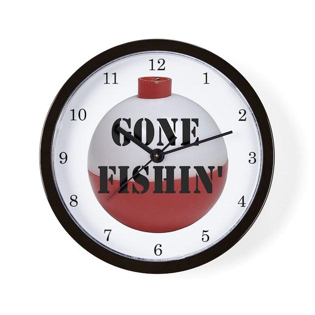 Gone Fishing Home Decor Wall Clock By Islandvintage