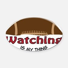 Watching Oval Car Magnet