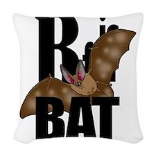 B is for Bat! Woven Throw Pillow