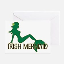 Irish Mermaid White Crop Greeting Card