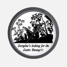 EASTER BUNNY 2010. PNG scaled Wall Clock