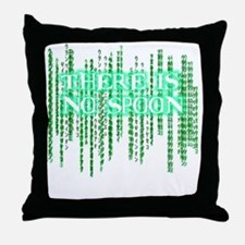 Matrix shirt - There Is No Spoon Throw Pillow