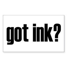 Got Ink? Tattoo Rectangle Decal