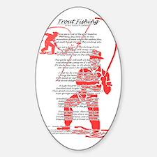 fishing_poem_50s_style Sticker (Oval)