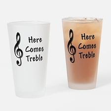 Treble-Black.GIF Drinking Glass
