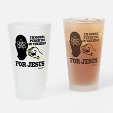 2-punch4jesus Drinking Glass