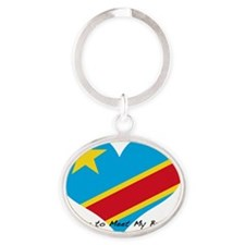 drc waiting brother Oval Keychain