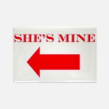 She's Mine Rectangle Magnet