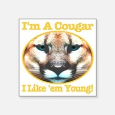 """imacougar_ilikeemyoung_tras Square Sticker 3"""" x 3"""""""