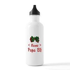 Personalized Papa Elf Water Bottle