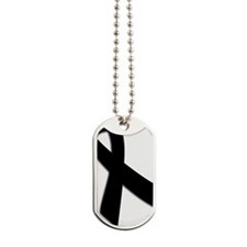black ribbon Dog Tags