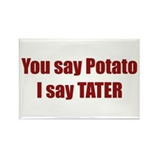 Potato Tater Rectangle Magnet