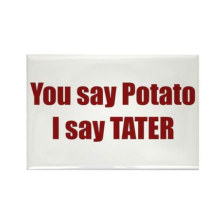 Potato Tater Rectangle Magnet