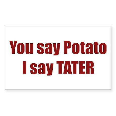 Potato Tater Rectangle Sticker