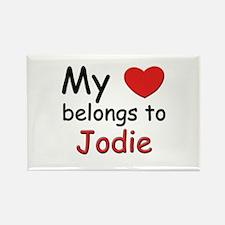 My heart belongs to jodie Rectangle Magnet