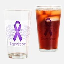 PurpleCancerSurvivor Drinking Glass