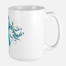 Teal RibbonDark Large Mug