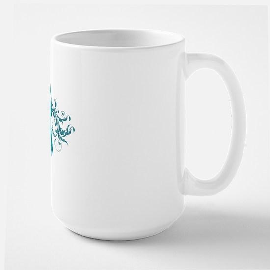 Teal RibbonDark Large Mug