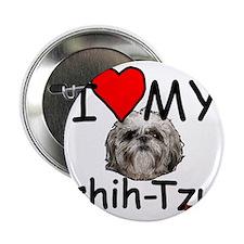 "i heart my shih-tzu 2.25"" Button"