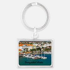 Oranjestad Marina Aruba Landscape Keychain