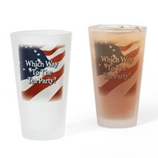 wwtteaparty_v2_btn Drinking Glass