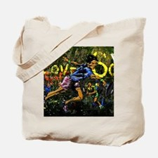 Tennis city co-ed abstract bckgrd Small P Tote Bag
