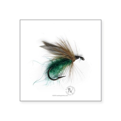 """cowdung_fly Square Sticker 3"""" x 3"""""""