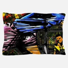 Tennis city co-ed abstract bckgrd Larg Pillow Case