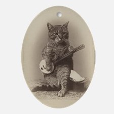Cat_tee Oval Ornament