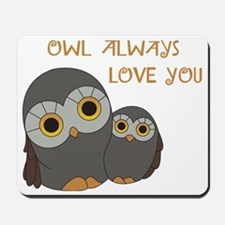 Owls and Love Mousepad