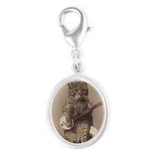 cat_req_magnet Silver Oval Charm