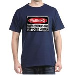 Warning Tattooed Human Tattoo Dark T-Shirt