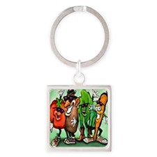 Veggie Gang SQ Square Keychain