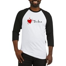 """I Love You"" [Albanian1] Baseball Jersey"