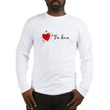 """I Love You"" [Albanian1] Long Sleeve T-Shirt"