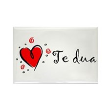 """""""I Love You"""" [Albanian1] Rectangle Magnet (10 pack"""