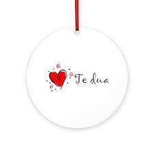 """I Love You"" [Albanian1] Ornament (Round)"