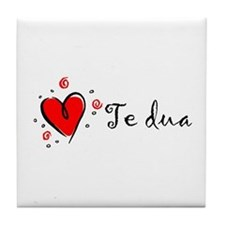"""I Love You"" [Albanian1] Tile Coaster"
