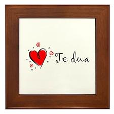 """""""I Love You"""" [Albanian1] Framed Tile"""