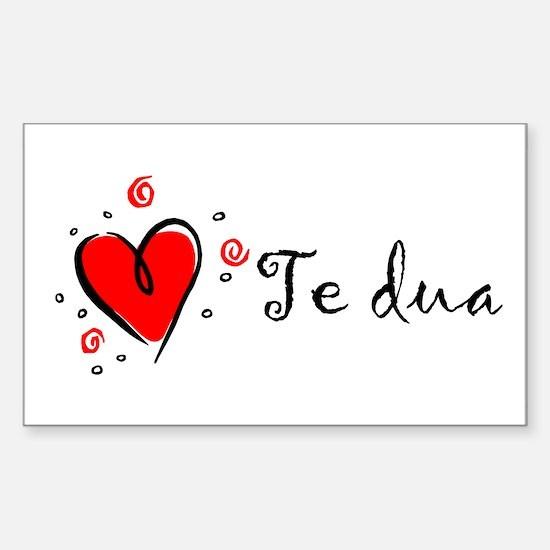 """I Love You"" [Albanian1] Rectangle Decal"