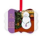 Snowman Decorating Christmas Tree Ornament