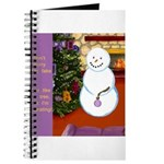 Snowman Decorating Christmas Tree Journal
