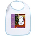 Snowman Decorating Christmas Tree Bib