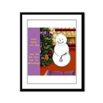 Snowman Decorating Christmas Tree Framed Panel Pri