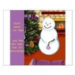 Snowman Decorating Christmas Tree Posters