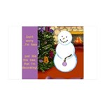 Snowman Decorating Christmas Tree Wall Decal