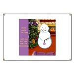 Snowman Decorating Christmas Tree Banner
