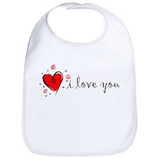"""I Love You"" [English] Bib"