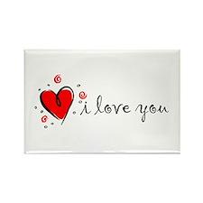 """I Love You"" [English] Rectangle Magnet"
